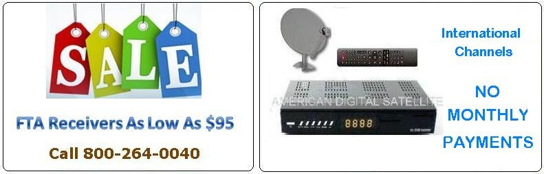 get free FTA Satellite Receivers with your order of DirecTV and save over $120.